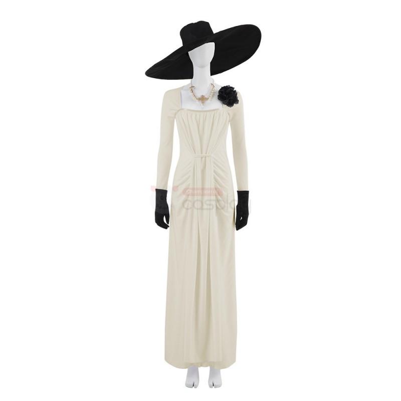 2021 Resident Evil 8 Village Alcina Dimitrescu Dress Cosplay Costume