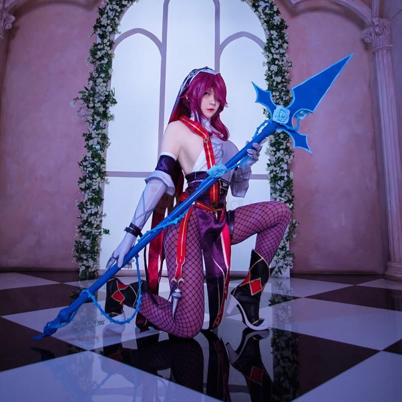 Rosaria Costume Genshin Impact Cosplay Suit