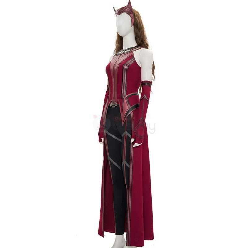 WandaVision Scarlet Witch Costume 2021 New Wanda Cosplay Suit Knit Edition