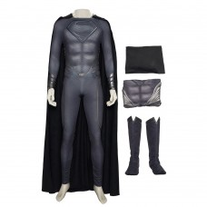 Man Of Steel 2 Superman Black Cosplay Costume