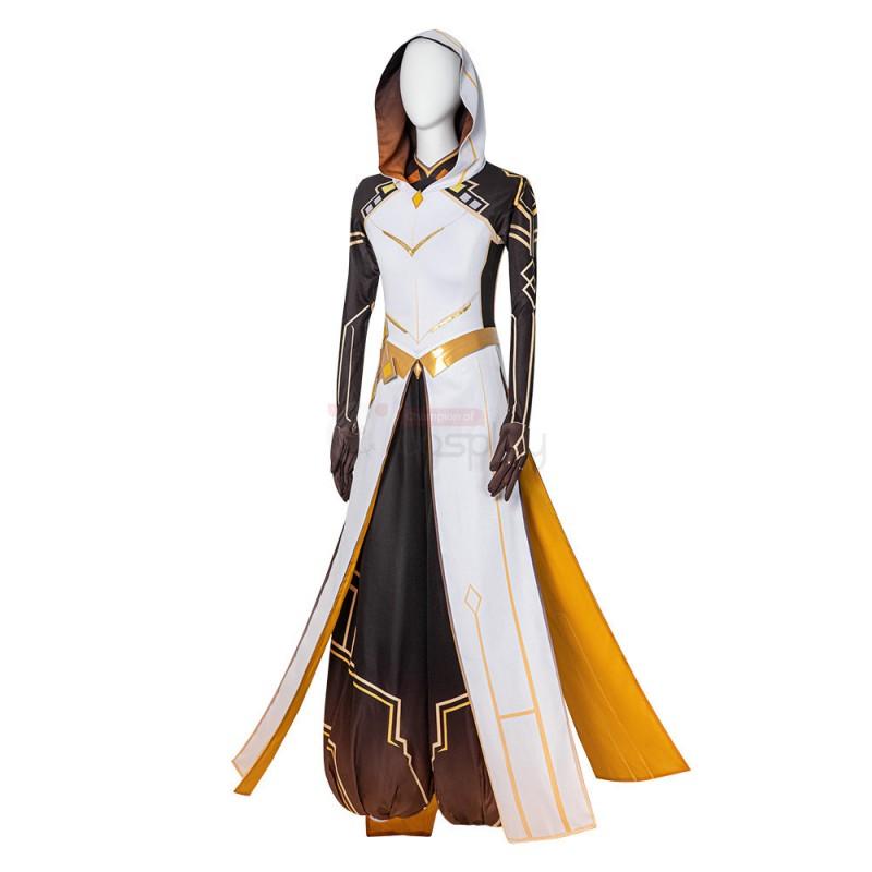 Genshin Impact Zhongli Cosplay Costume Full Set