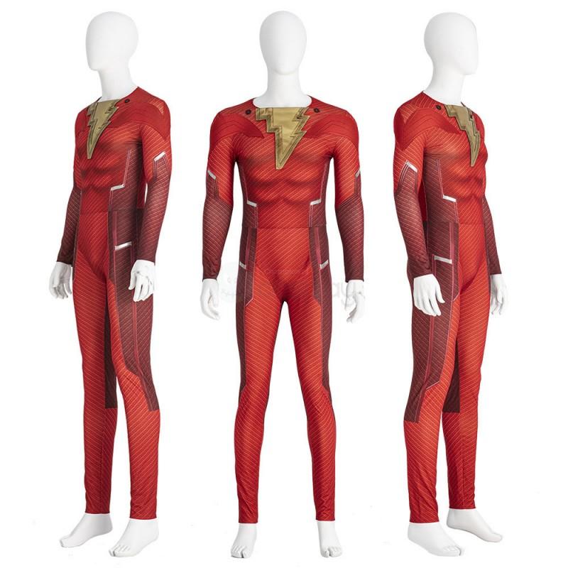 Shazam Costume Shazam 2 Fury of the Gods Cosplay Suit