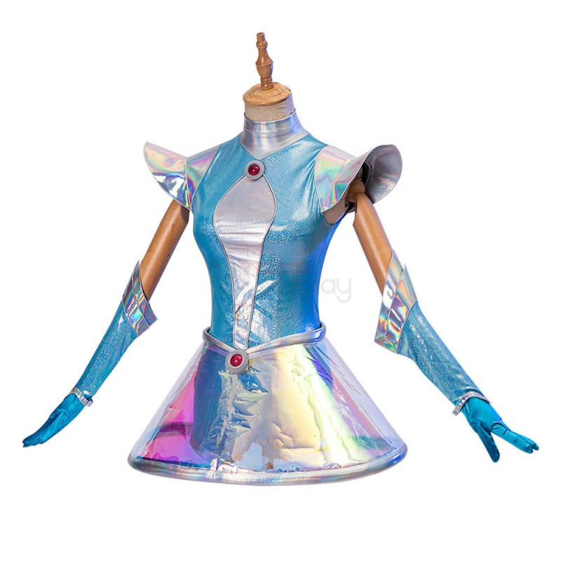 LOL Space Groove Lux Costume League of Legends Cosplay Suit