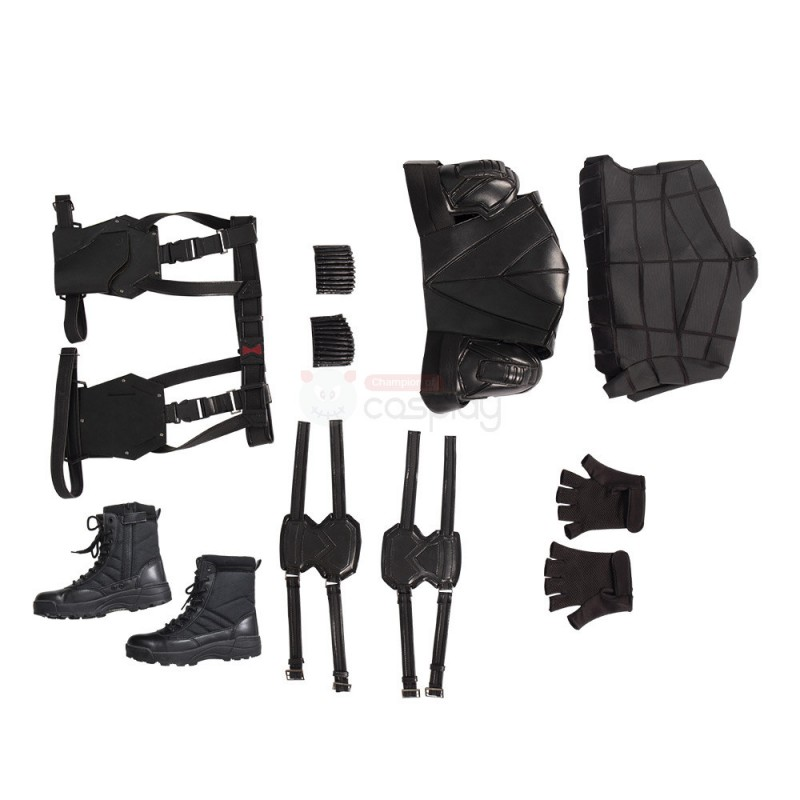 Yelena Belova Black Costume New Black Widow Cosplay Suit