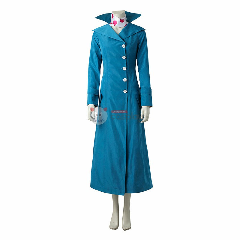 Despicable Me 3 Lucy Blue Style Cosplay Costume