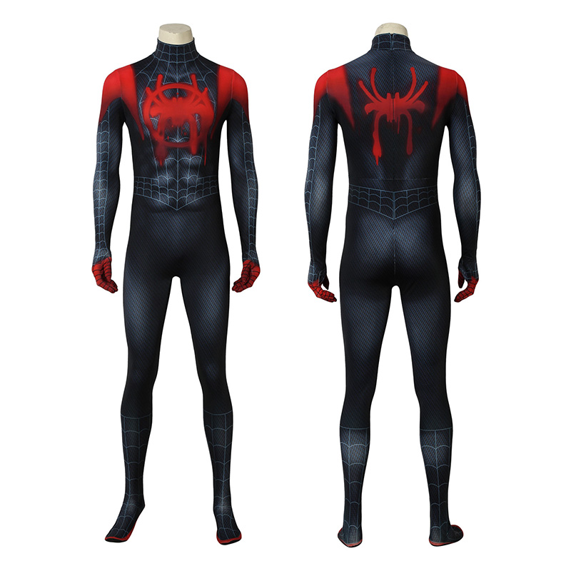 Spider Man Costume Spider-Man Into The Spider-Verse Miles Morales Cosplay Costume