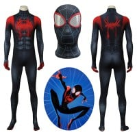 Spider Man Costume Miles Morales Spiderman Cosplay Costume