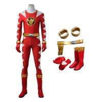 Power Rangers Dino Thunder Red Dino Ranger Conner McKnight Cosplay Costumes
