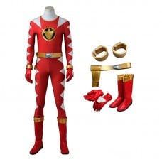 Power Rangers Dino Thunder Red Dino Ranger Conner McKnight Cosplay Costumes