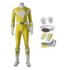 Boy Tyranno Ranger Costume Yellow Mighty Morphin' Power Rangers Cosplay Costumes