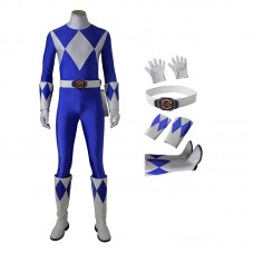 Dan Tricera Ranger Costume Blue Mighty Morphin' Power Rangers Cosplay Costumes