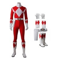 Geki Tyranno Ranger Costume Red Mighty Morphin' Power Rangers Cosplay Costumes