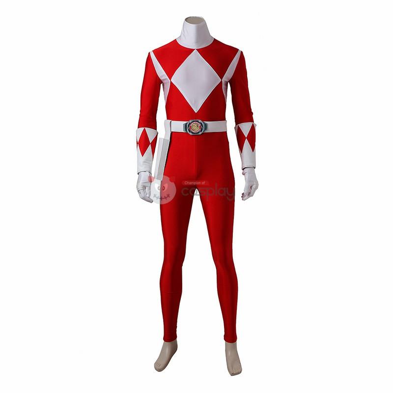 Geki Tyranno Ranger Costume Red Mighty Morphin' Power Rangers Cosplay Costumes