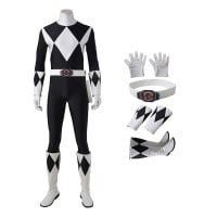 Goushi Mammoth Ranger Costume Black Mighty Morphin' Power Rangers Cosplay Costumes