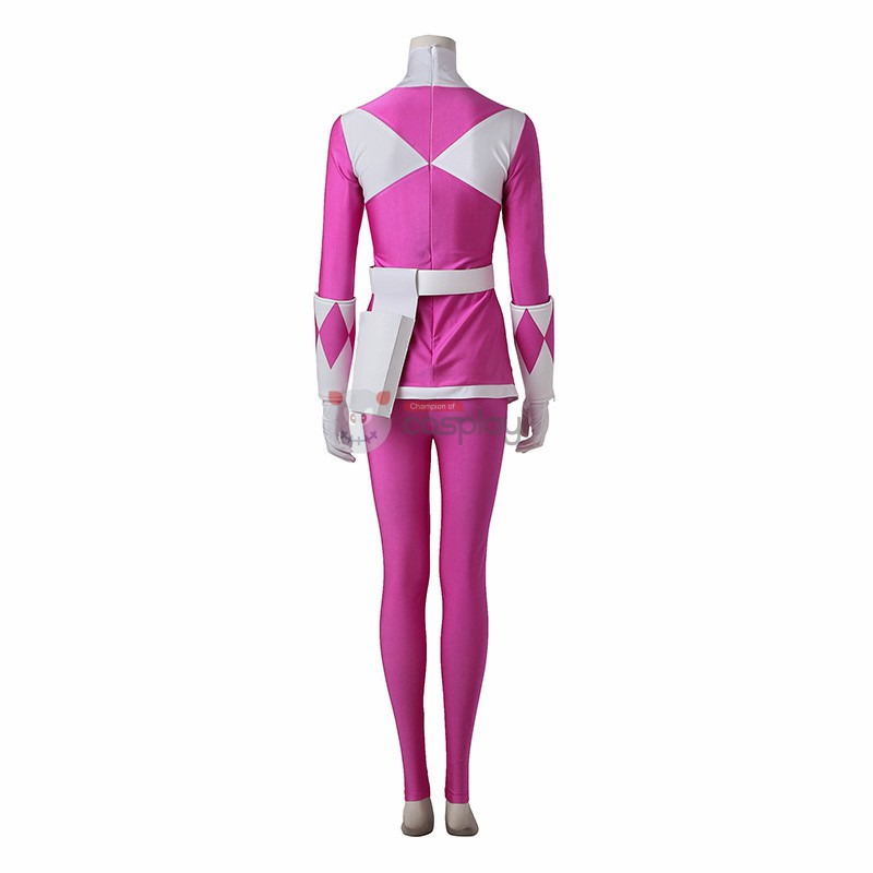 Mei Ptera Ranger Costume Pink Mighty Morphin' Power Rangers Cosplay Costumes