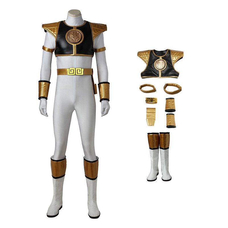 Tommy Oliver Costume White Mighty Morphin' Power Rangers Cosplay Costumes