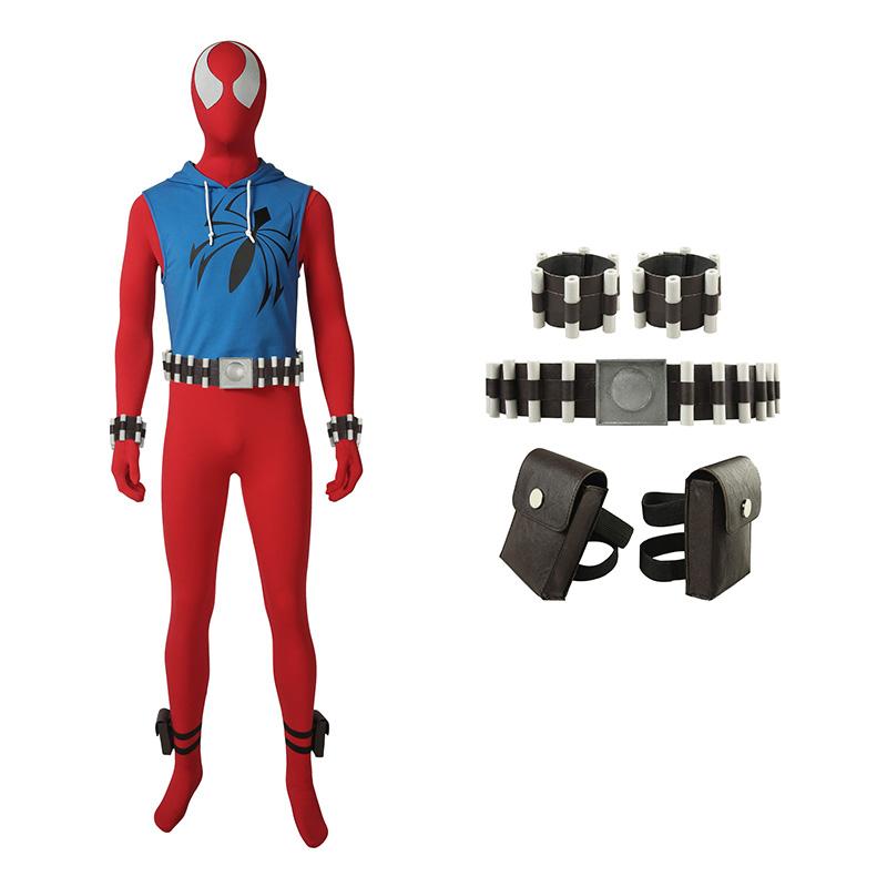Scarlet Spider Man Costume Ben Reily Cosplay Costume