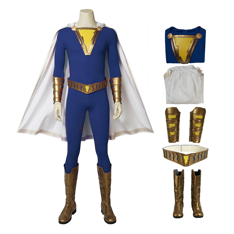 Shazam Costume Freddy Freeman Captain Marvel Cosplay Costume