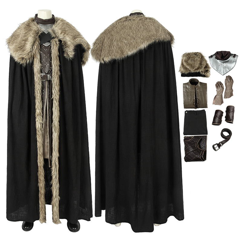 Jon Snow Costume Game of Thrones 8 Jon Snow Cosplay Costume