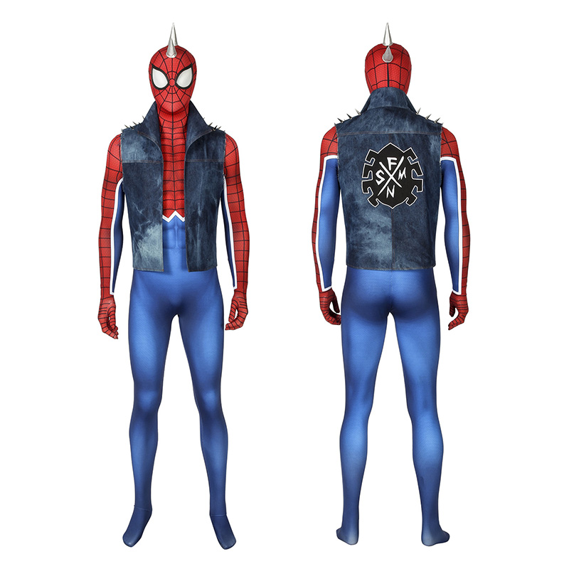Spider-Punk Costumes Spider-Man PS4 Spider-Punk Cosplay Costumes