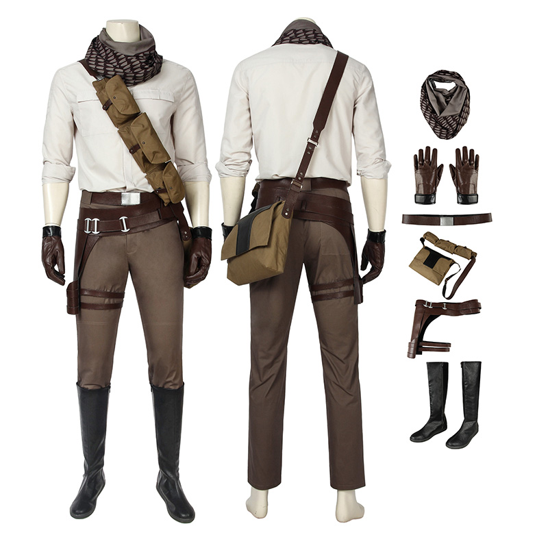 Poe Dameron Costume Star Wars 9 The Rise Of Skywalker Cosplay Costume