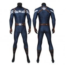 Captain America Costume The Winter Soldier Captain America Steve Rogers Jumpsuit Bodysuit Cosplay Costumes