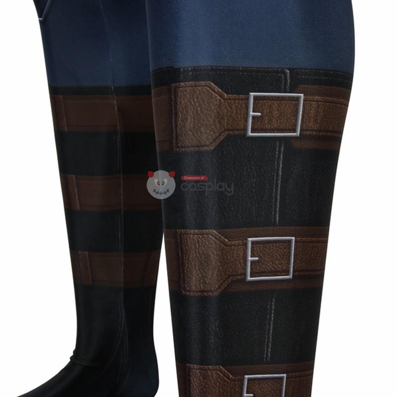 Captain America Costume Steve Rogers Jumpsuit Bodysuit Cosplay