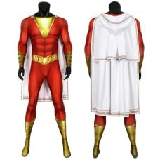 Shazam Jumpsuit DC Comics Billy Batson Cosplay Costume