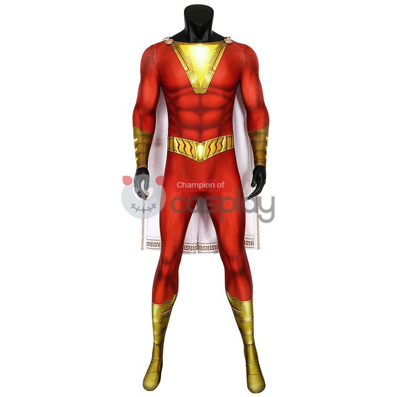 Shazam Jumpsuit DC Comics Billy Batson Cosplay Costume