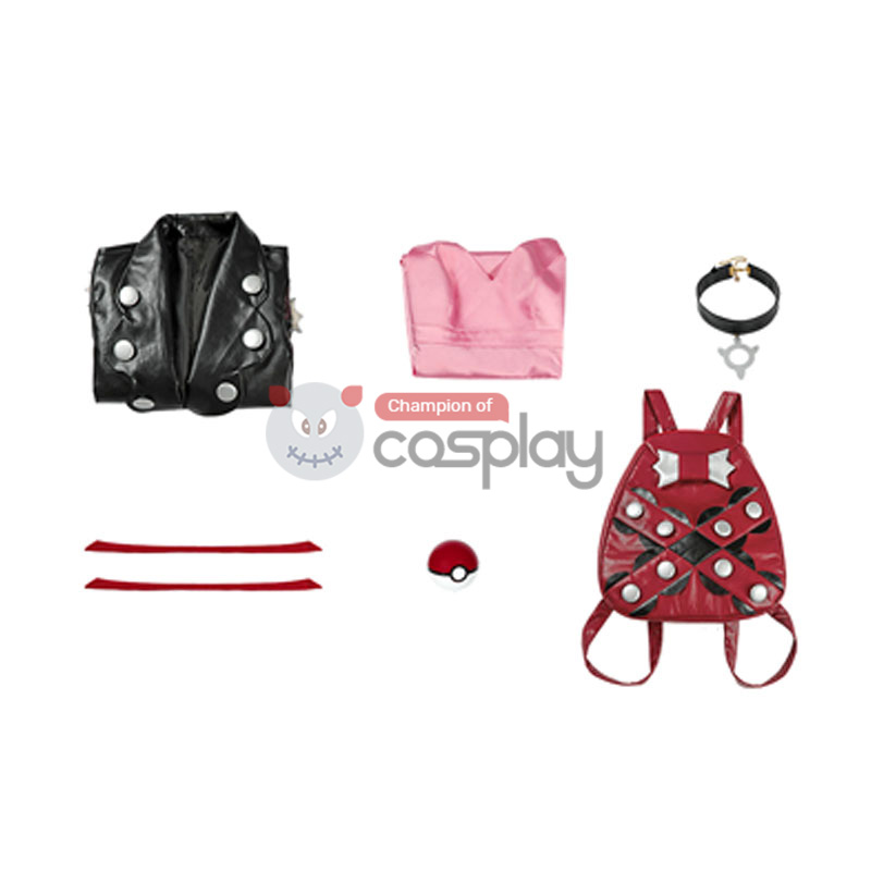 Pokemon Sword and Shield Marnie Cosplay Costume Suit