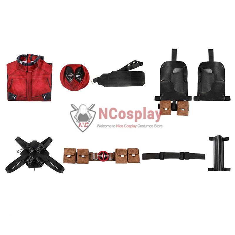 Deadpool Wade Wilson Jumpsuit Halloween Cosplay Costume
