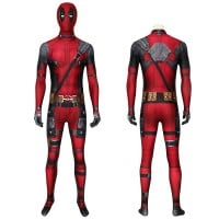 New Deadpool Wade Wilson Jumpsuit Cosplay Costume