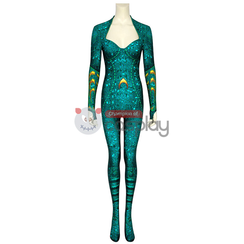 DC Aquaman Cosplay Costume Mera Jumpsuit