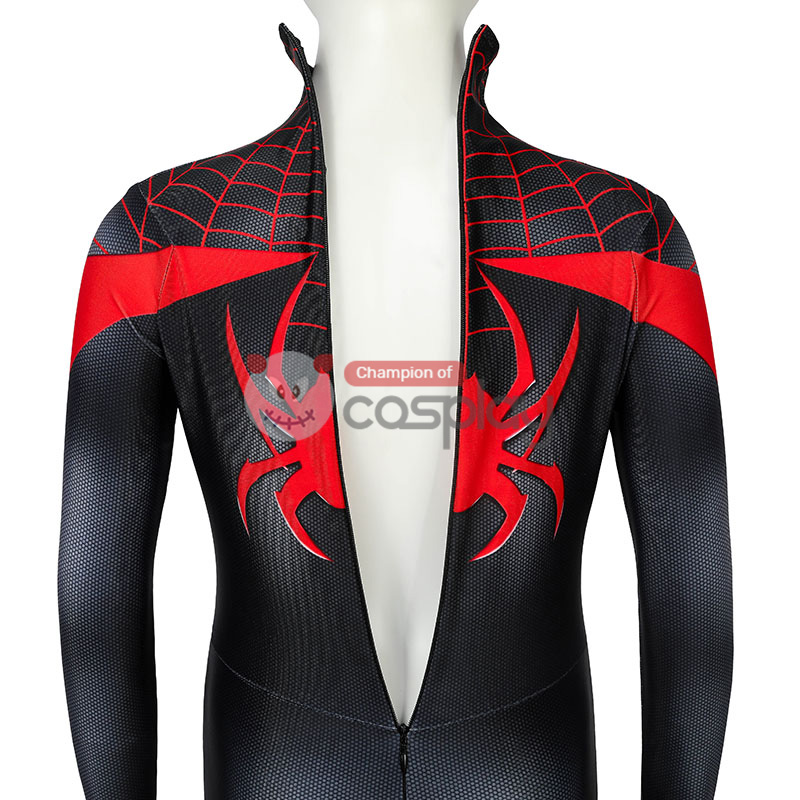 Kids Ultimate Spider Man Cosplay Costume Spiderman PS5 Miles Morales Jumpsuit