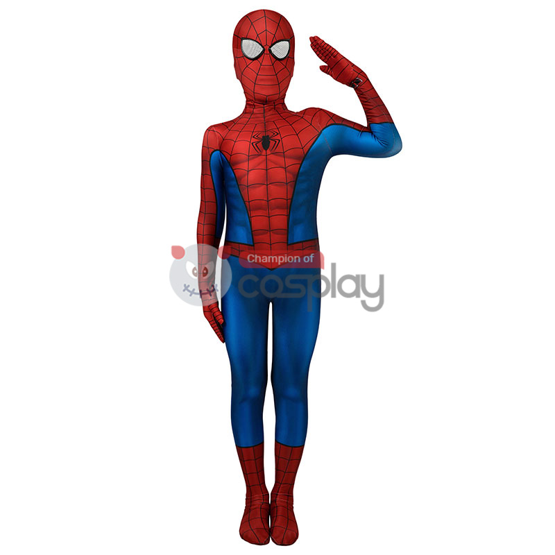 Kids Spider Man Tobey Maguire Cosplay Costume Edition Spiderman Jumpsuit