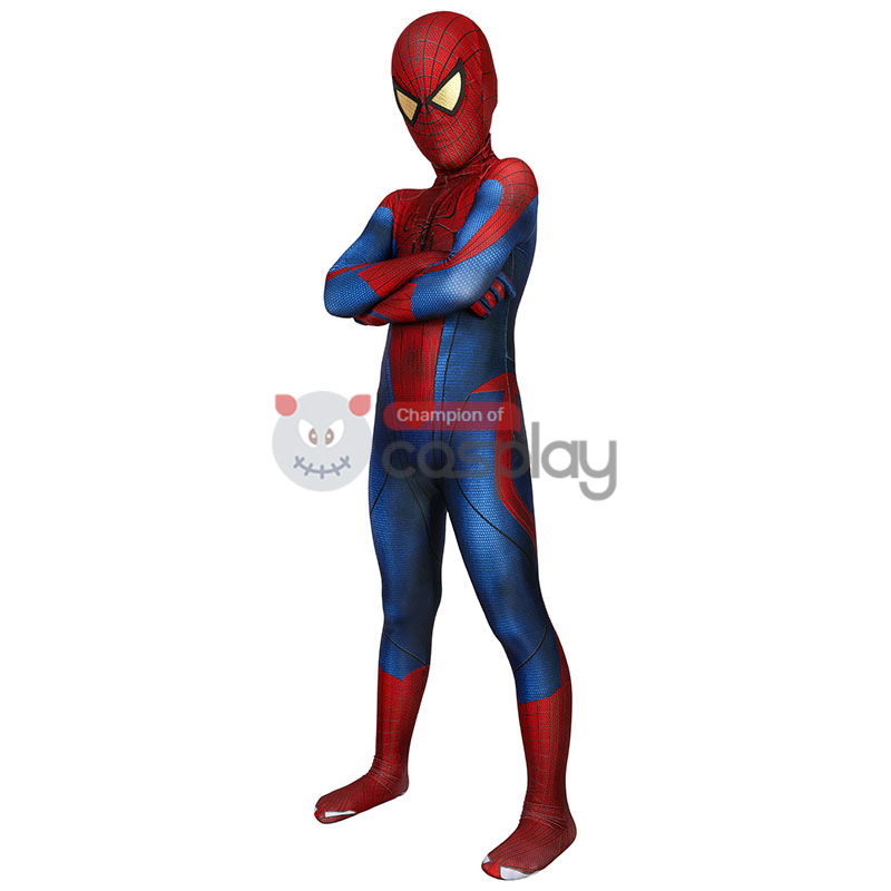 Kids The Amazing Spider-Man Peter Parker Cosplay Costume