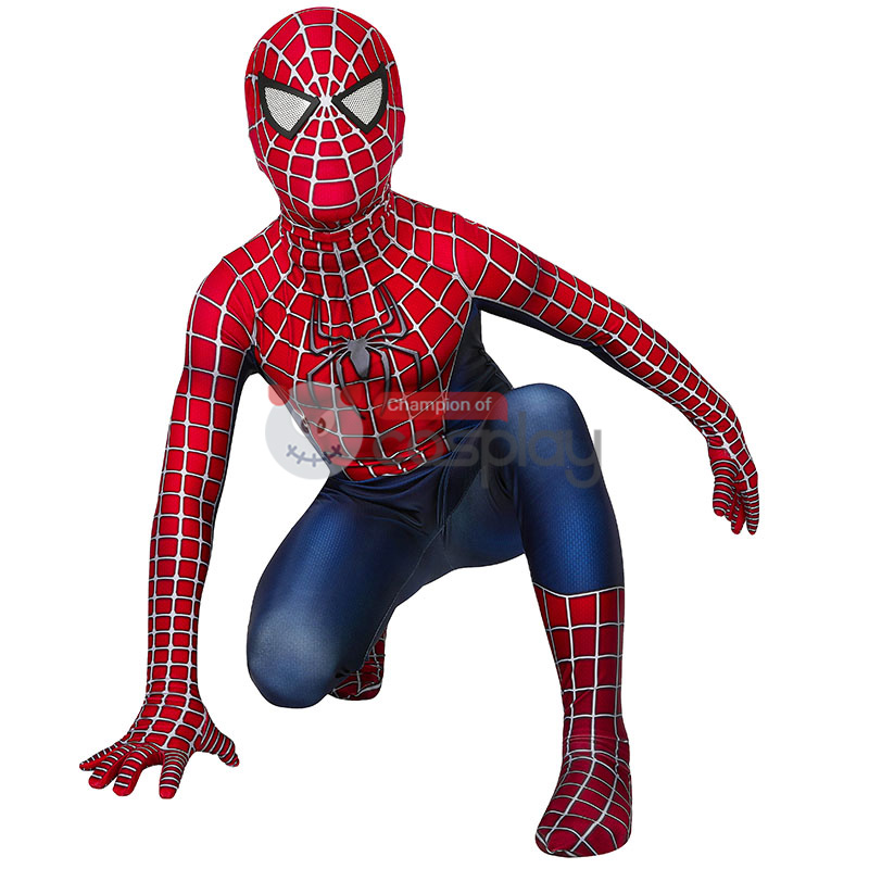 Spider Man Jumpsuit Tobey Maguire Cosplay Costume for Kids