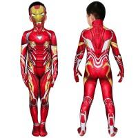 Iron Man Jumpsuit The Avengers Tony Stark Cosplay Costume for Kids