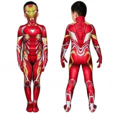 Iron Man Jumpsuit The Avengers Tony Stark Cosplay Costume for Kids