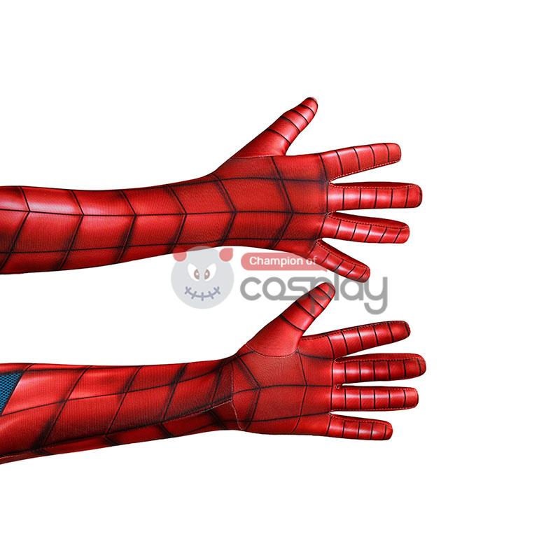 Spider-Armor MK IV Cosplay Costume Spiderman Jumpsuit for Kids
