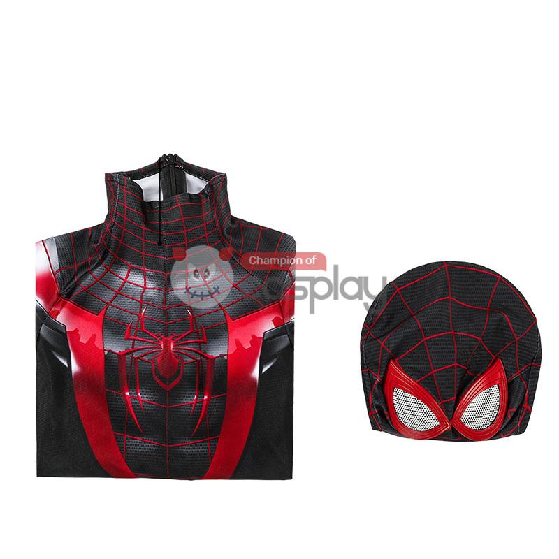Spider Man Miles Morales Cosplay Costume Spiderman Jumpsuit for Kids
