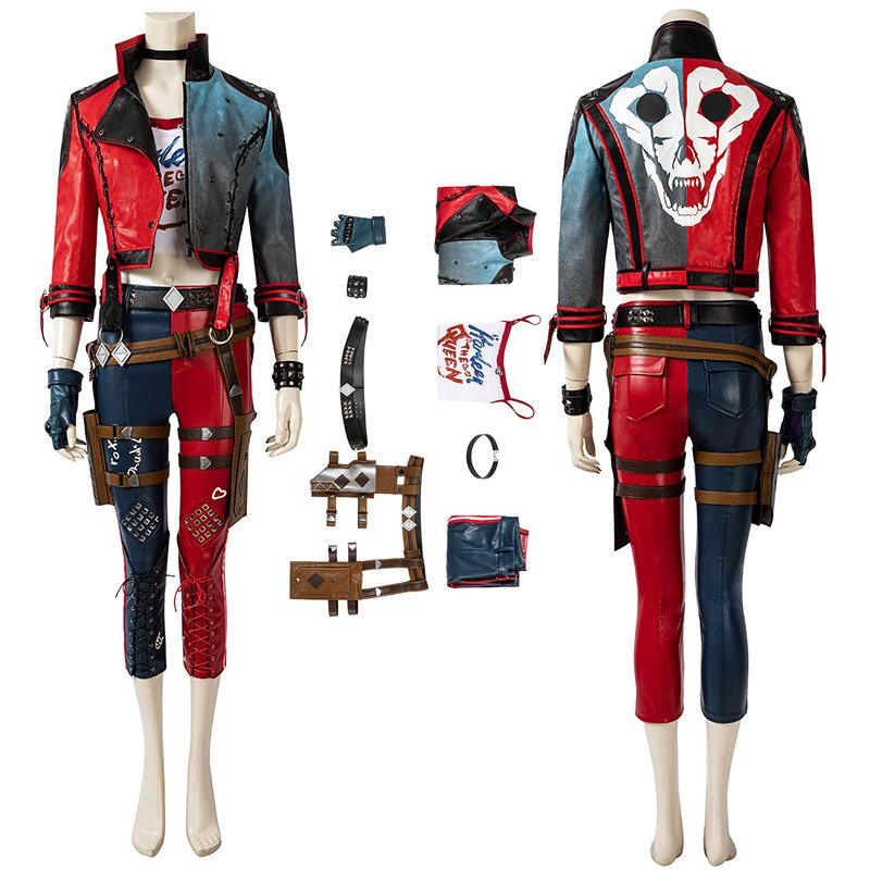 New Suicide Squad Kill The Justice League Cosplay Suit Harley Quinn Costume
