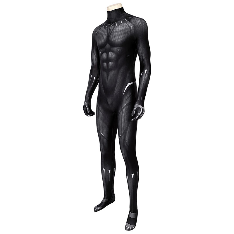 New Black Panther Cosplay Costume T'Challa Jumpsuit