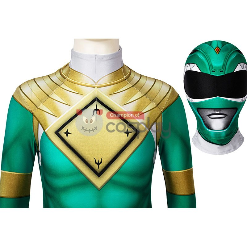Mighty Morphin Power Rangers Cosplay Costume Green Ranger Jumpsuit for Kids