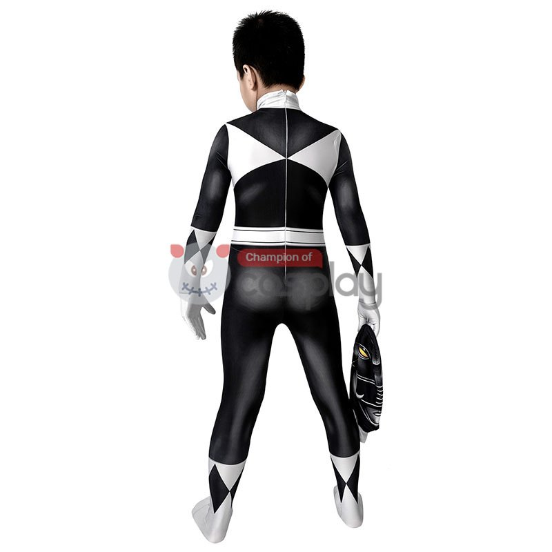Mighty Morphin Power Rangers Cosplay Costume Black Rangers Suit for Kids