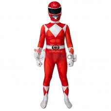 Ready To Ship for Kids Red Ranger Cosplay Costume