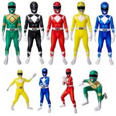 Kids Power Ranger Costume Jumpsuit Power Rangers Cosplay Suit