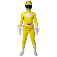 Mighty Morphin Power Rangers Cosplay Costume Yellow Ranger Suit for Kids