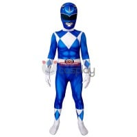Blue Ranger Jumpsuit Mighty Morphin Power Rangers Cosplay Suit for Kids