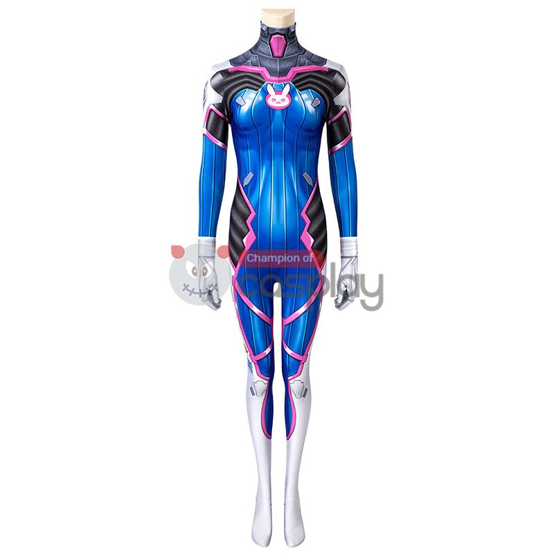 Overwatch D.Va Cosplay Costume OW Hana Song Jumpsuit
